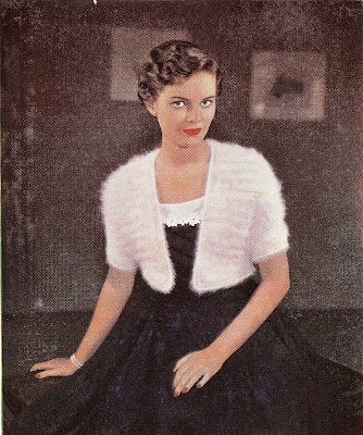 Little Grey Bungalow Knitting Pattern For A 1953 Angora Bolero