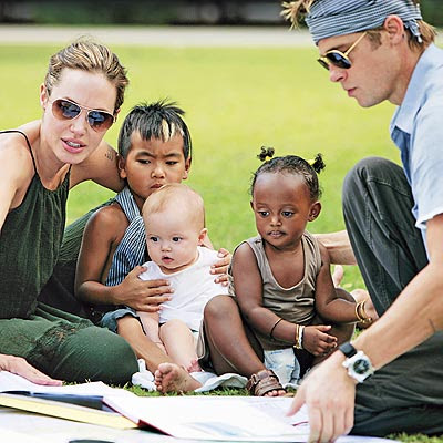 wonderful multinational family of Brad Pitt and Angelina Jolie