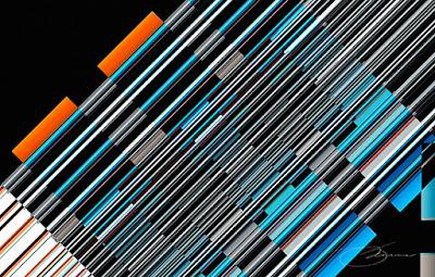 angled tubular art