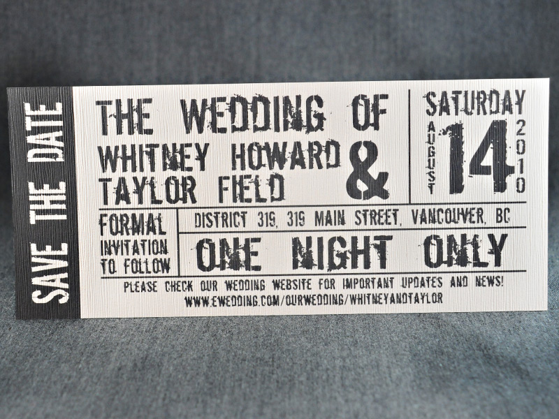 Rock theme Help Wedding Forum – Invitations That Look Like Concert Tickets