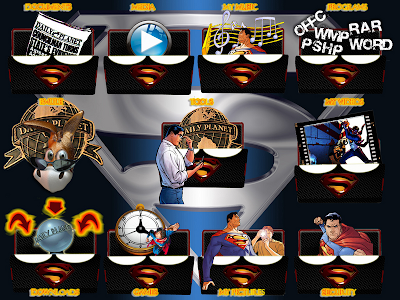 Superman iconos rocketdock objectdock pepua personalizacion