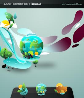 Gaia suite plantillas para Windowsblind, Rocketdock, Objectdock,Winamp, Rainmeter, iconos - Personalizacion