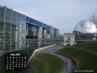 Fond d'écran Mars 2010, avec et sans calendrier
