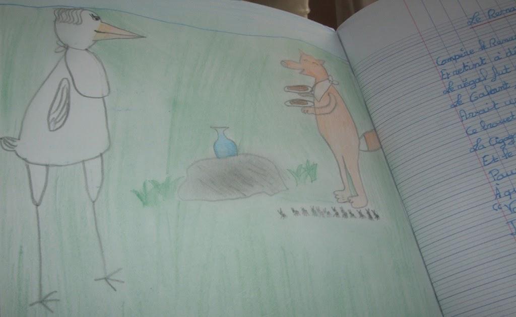 Les trucs de myrtille le renard et la cigogne jean de la fontaine - Le renard et la cigogne dessin ...