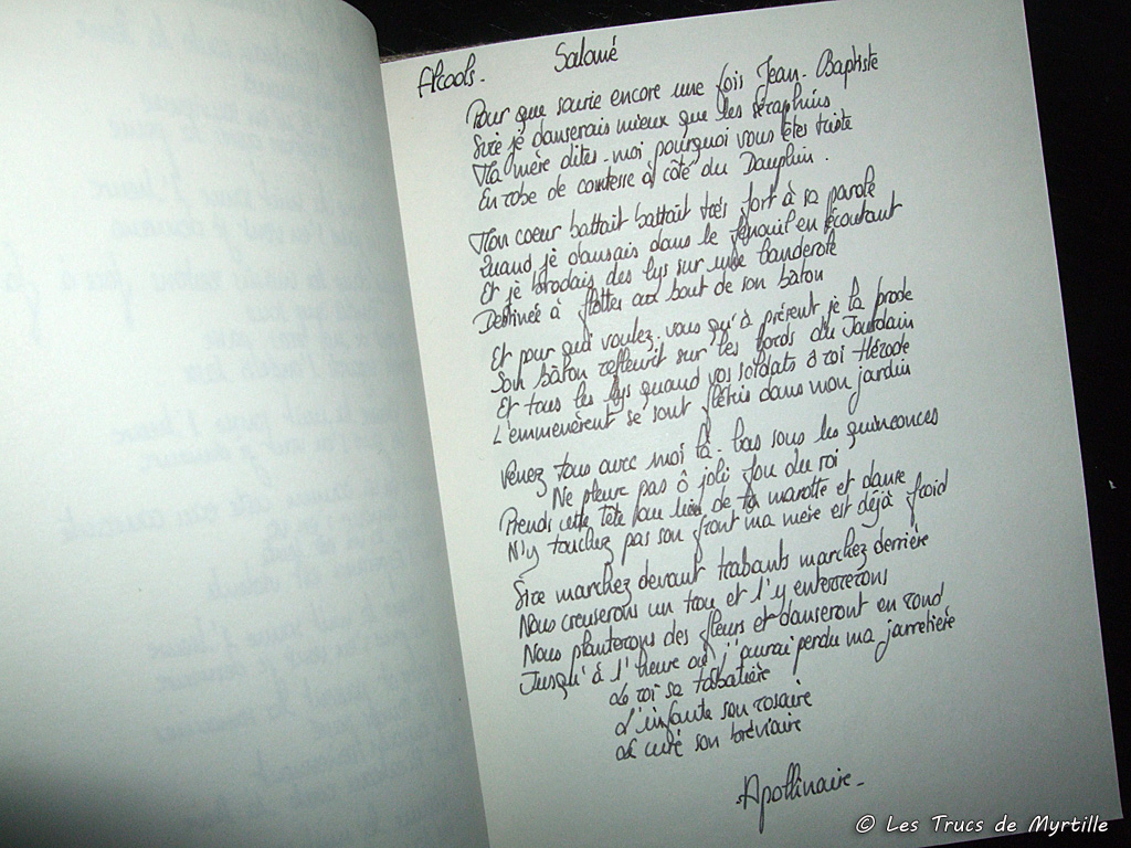 Des poésies dans un joli carnet pour le plaisir d écrire de