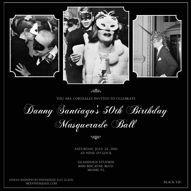 The Two Day Event Started On Saturday Night At Glasshaus Studios With A Masquerade Ball Inspiration Behind Black Tie Was Truman Capotes 1966
