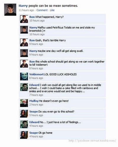 Harry Potter Facebook Status