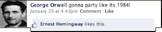 George Orwell Facebook Status