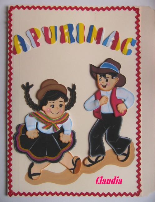 ... uno de sus bailes tipicos las figuras y letras estan hechas en foamy