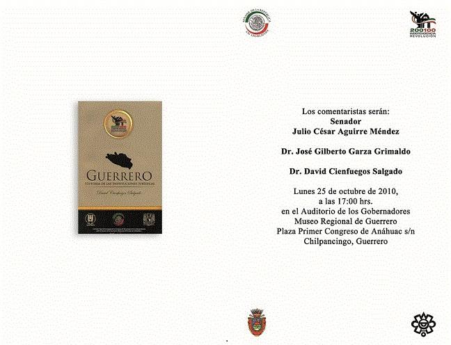 Guerrero Cultural: octubre 2010