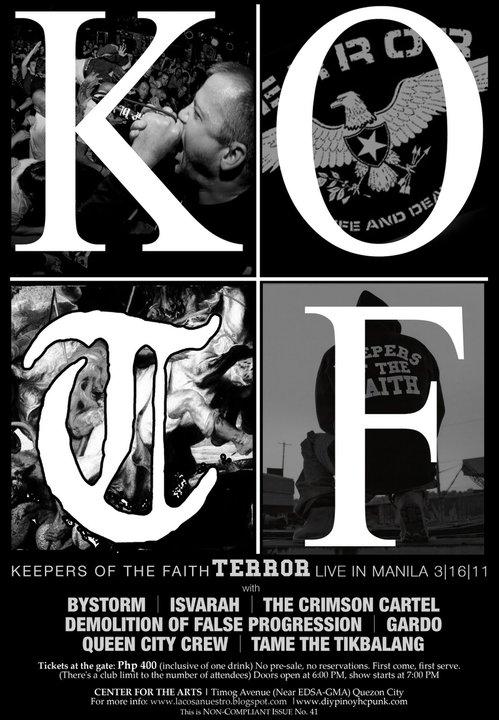 Batangas hardcore punk keepers of the faith terror live in manila