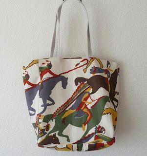 vintage fabrics tote bag
