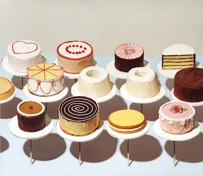 wayne thiebaud cupcake. Wayne Thiebaud, Chocolate Cake