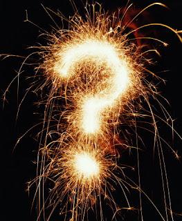 sparkler question mark