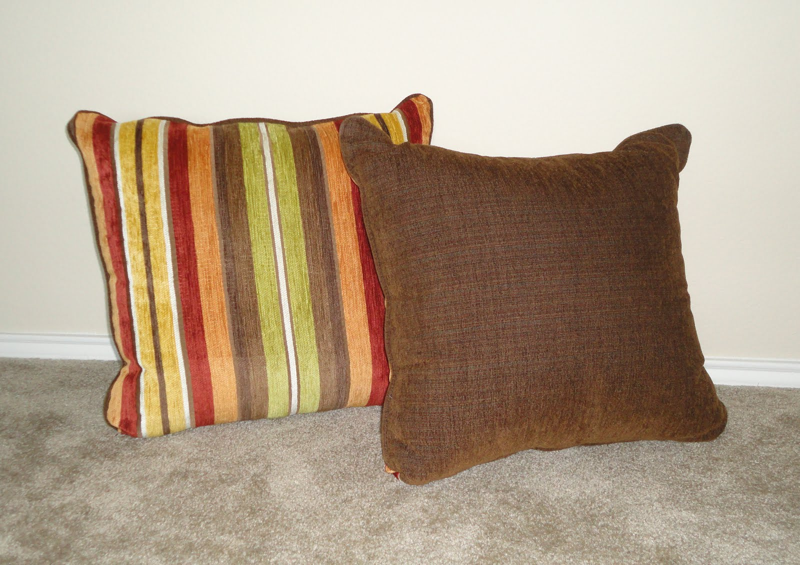 Kinzie s Kreations: Couch Pillows turned Floor Cushions