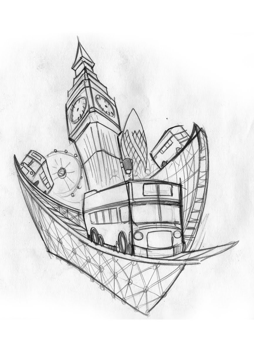 Free Drawing Of A London Eye Coloring Pages