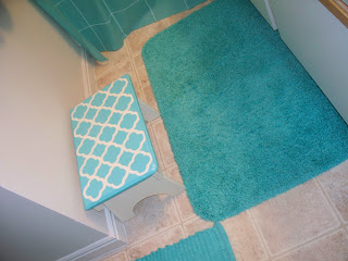 karie's chic creations : turquoise accent bathroom