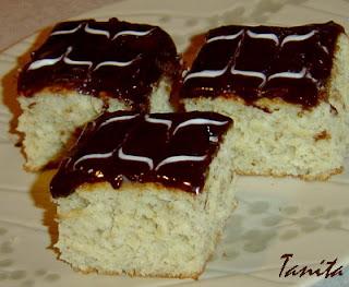 Бананов кекс с шоколадова глазура
