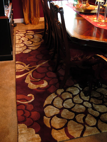 Large Patterned Area Rug - Dining Room