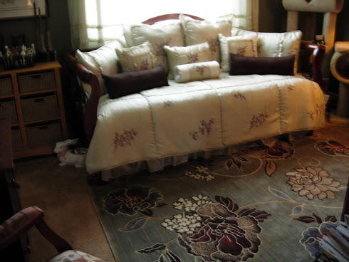 Large Patterned Area Rug -  Guest Room
