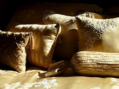 Pillows...used with different comforters