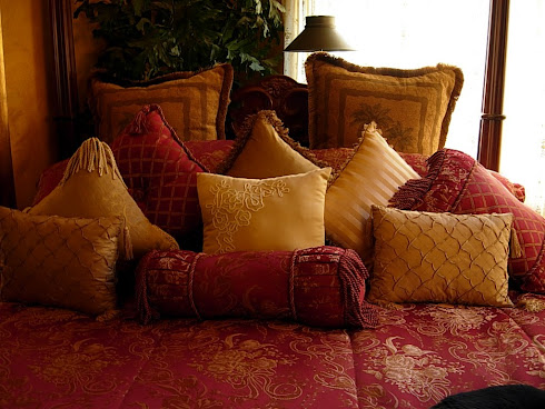 Pillows...love them piled high