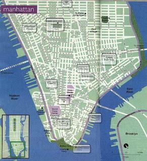 Plan de downtown manhattan new york city