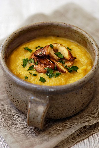 Jerusalem artichoke soup (adapted from La Tartine Gourmande)