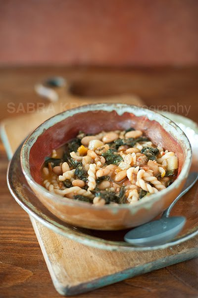 Noodle Soup With Kale And White Beans Recipe — Dishmaps