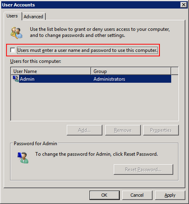 autologon registry