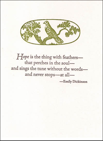 hope is the thing with feathers essay