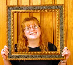 Experienced framer, Dannette frames herself