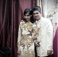 Kebaya Pernikahan  Zaskia dan Irwansyah