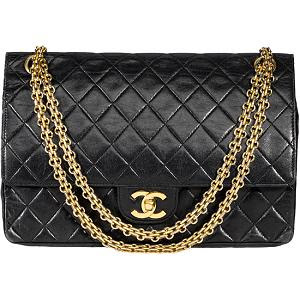 chanel vintage 255 quilted bag 10211 front large A Chanel