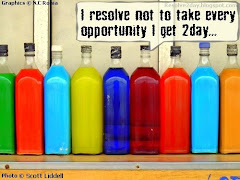 Resolve not to take every opportunity you get