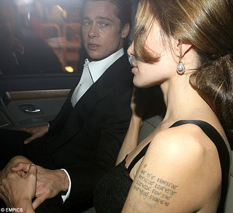 angelina jolie tattoo. soccer ball tattoos