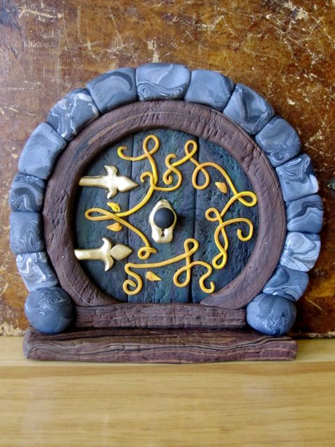 Creator 39 s joy hobbit doors out of fimo or sculpey How to make a fairy door out of clay
