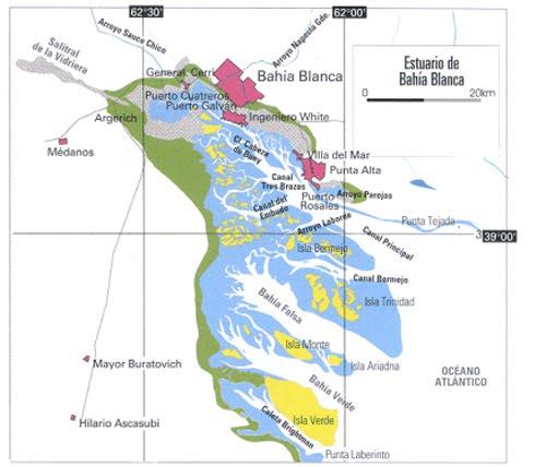 Geoperspectivas geografa y educacin problemas ambientales mapa del estuario de baha blanca fuente agencia cyta instituto leloir thecheapjerseys Choice Image