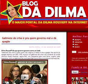 Blog em nome de famosos