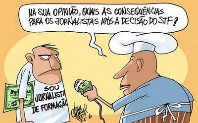 Os Jornalistas e os Diplomas.