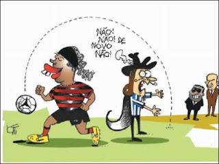 Ronaldinho Gaúcho dribla o Grêmio e vai para o Flamengo.