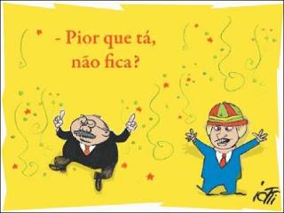 Sarney e Tiririca. Um extrato da população brasileira.