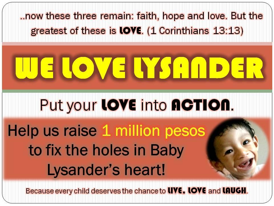 We Love Lysander