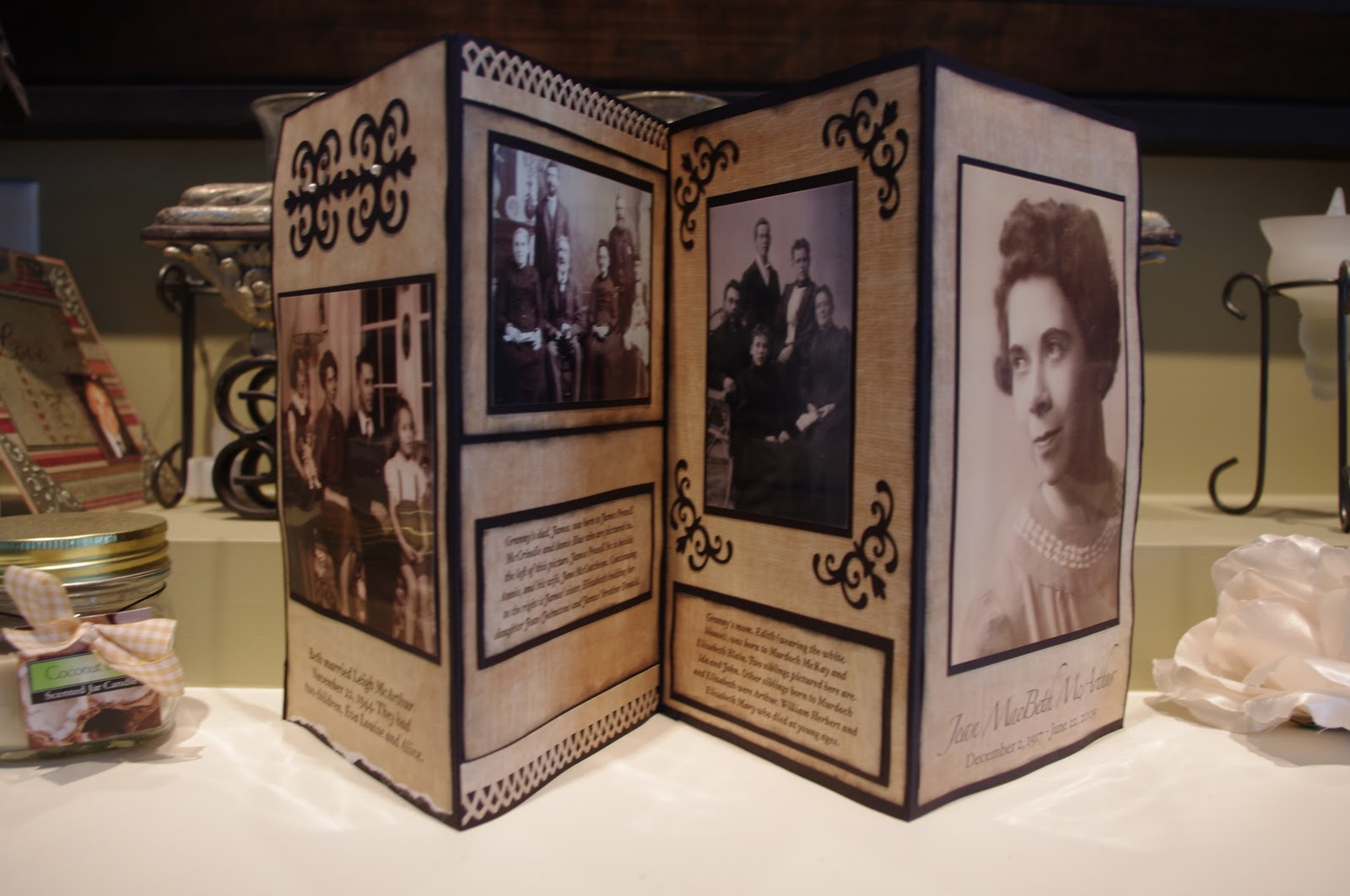 Scrapbook ideas history projects - Family History Gift Idea Accordion Album Tutorial