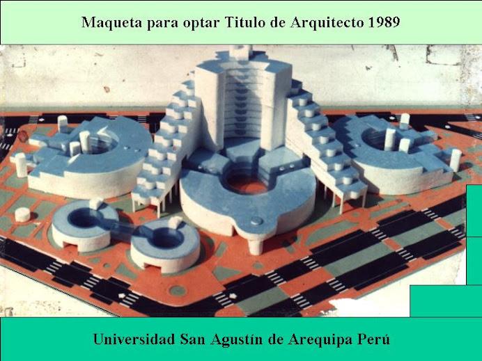 Tesis Arquitect l989 Arequipa Peru