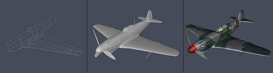 Texture mapping 3D aircraft -3D Studio Max