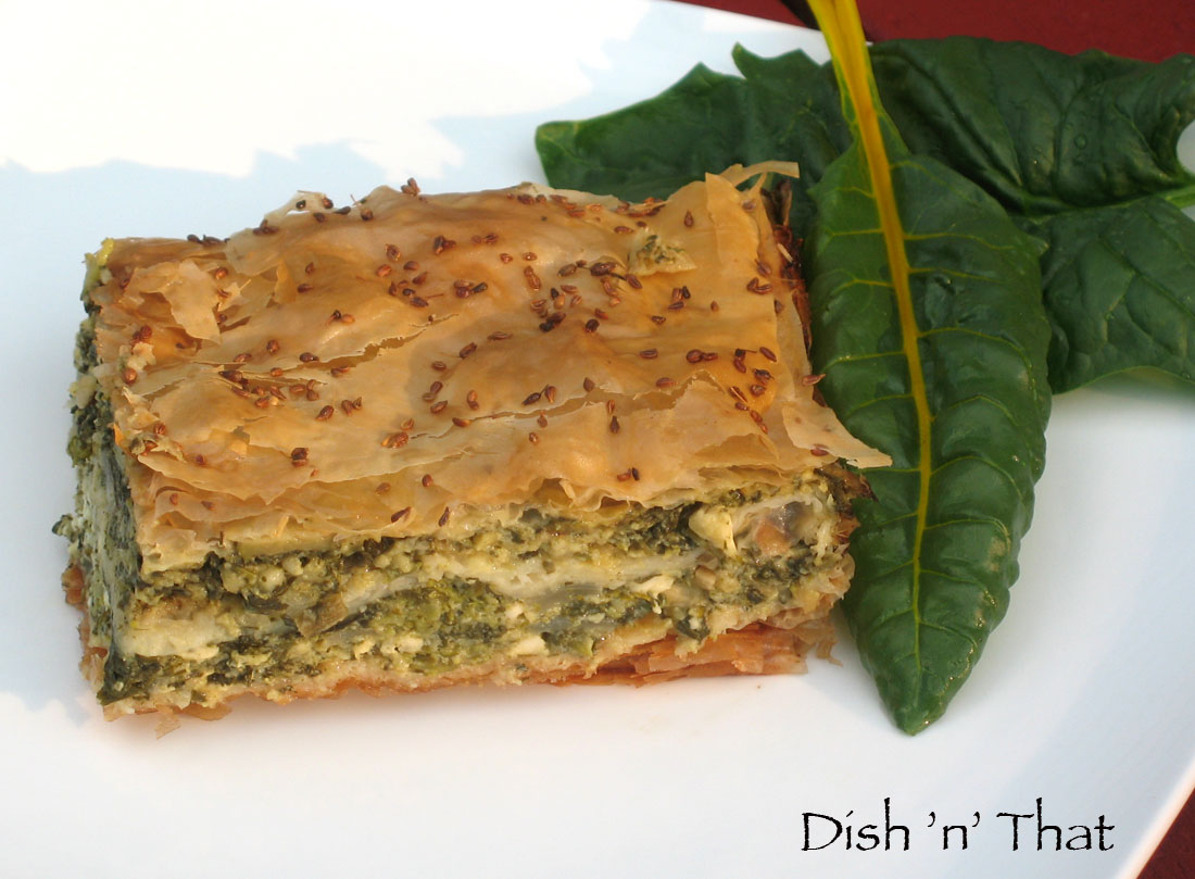 garden offers up a bounty of greens, what do you do? Make spanakopita ...