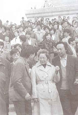 戈扬(1916年-2009年1月18日)1989年5月在天安门广场