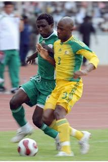 Sudáfrica enfrentando a Nigeria