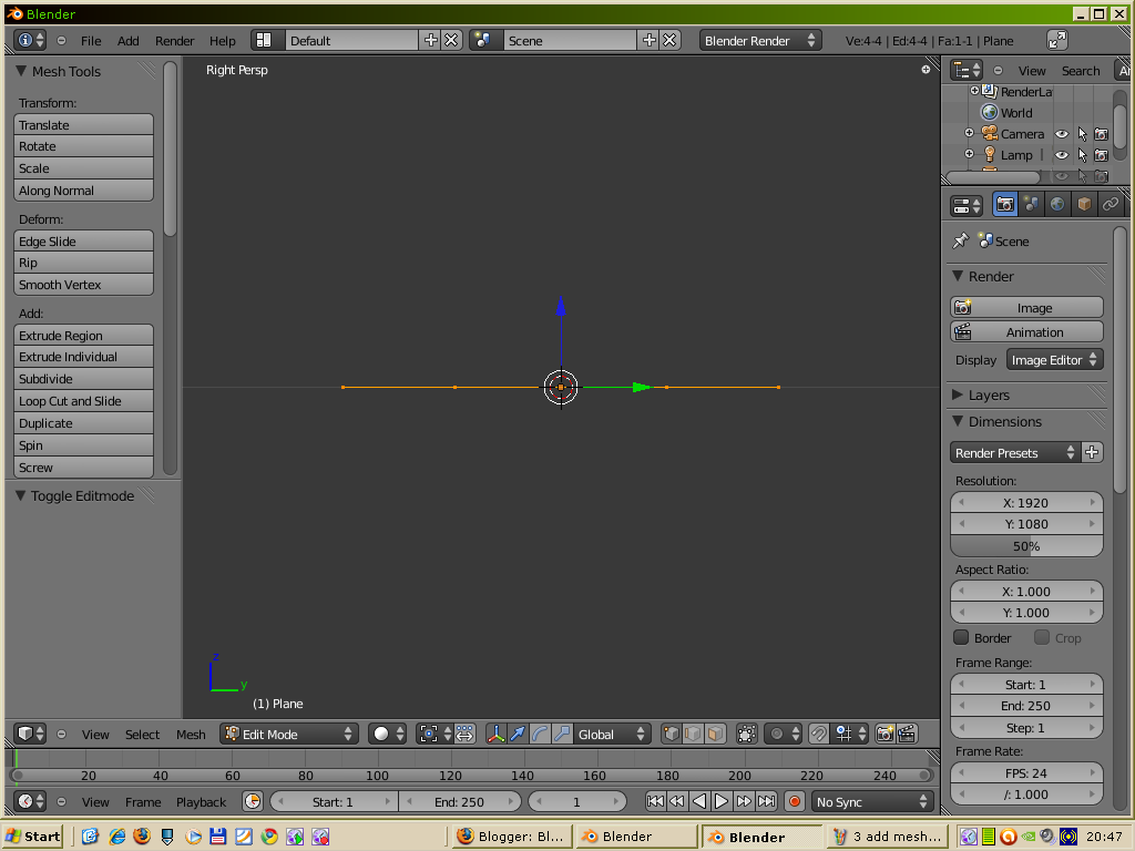 A warm welcome to blender and truespace lovers blender tutorials 4 press tab for edit mode baditri Image collections